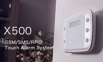X500 GSM/SMS/RFID Touch Alarm Systemsmanos' wireless GSM/SMS alarm with touch panel
